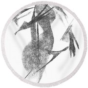 Girl, In Abstract Round Beach Towel