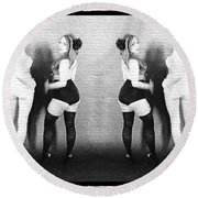 Girls On The Wall Round Beach Towel