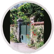 Giverny Gate Round Beach Towel