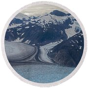 Glacial Curves Round Beach Towel