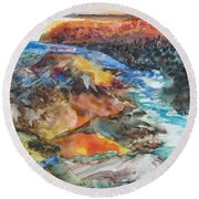 Glacial Meltdown Round Beach Towel