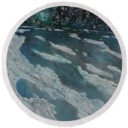 Glacial Moraine Round Beach Towel