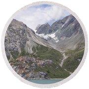 Glaciated Valley Round Beach Towel