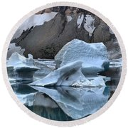 Glacier Iceberg Reflections Round Beach Towel