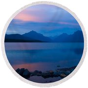 Glacier - Lake Mcdonald Dawn Round Beach Towel