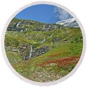Glacier National Park Round Beach Towel