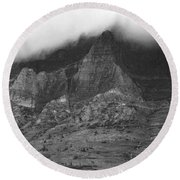 Glacier National Park Montana Horizontal Round Beach Towel