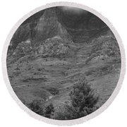 Glacier National Park Montana Vertical Round Beach Towel