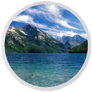 Glacier National Park Round Beach Towel