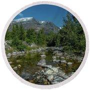 Glacier National Park-st Mary's River Round Beach Towel