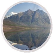 Glacier Reflection1 Round Beach Towel