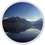 Glacier Reflections 2 Round Beach Towel