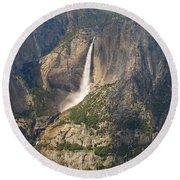 Glacierpoint Yosemitefalls Round Beach Towel
