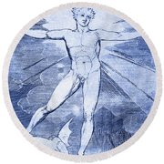 Glad Day By William Blake Round Beach Towel