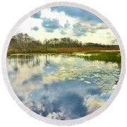 Glades Reflective 2 Round Beach Towel