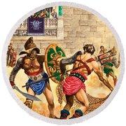 Gladiators Round Beach Towel