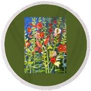 Gladiolus, 11x14, Oil, '07 Round Beach Towel