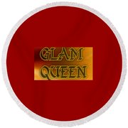 Glam Queen Round Beach Towel