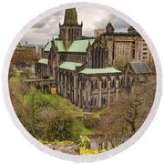 Glasgow Cathedral From The Necropolis Round Beach Towel