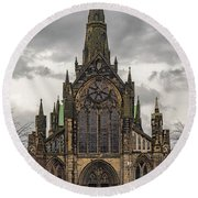 Glasgow Cathedral Front Entrance Round Beach Towel