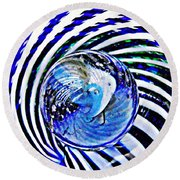 Glass Abstract 109 Round Beach Towel