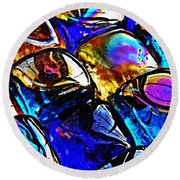 Glass Abstract 11 Round Beach Towel