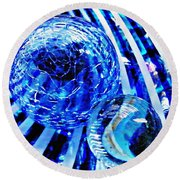 Glass Abstract 110 Round Beach Towel