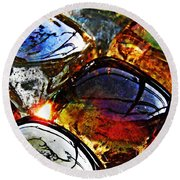 Glass Abstract 2 Round Beach Towel