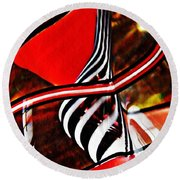 Glass Abstract 500 Round Beach Towel
