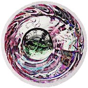 Glass Abstract 515 Round Beach Towel