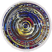 Glass Abstract 587 Round Beach Towel
