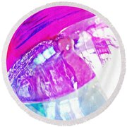 Glass Abstract 602 Round Beach Towel