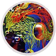Glass Abstract 630 Round Beach Towel