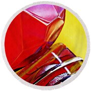Glass Abstract 649 Round Beach Towel