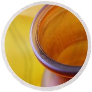 Glass Abstract 718 Round Beach Towel