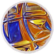Glass Abstract 768 Round Beach Towel