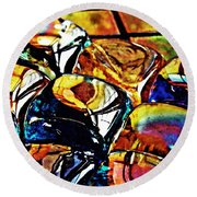 Glass Abstract Round Beach Towel