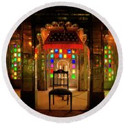 Glass And Mirror Room City Palace Udaipur Round Beach Towel