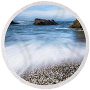 Glass Beach Round Beach Towel