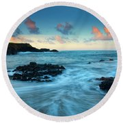 Glass Beach Dawn Round Beach Towel