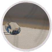 Glass Diamond On The Beach Round Beach Towel