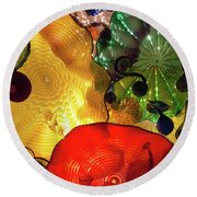 Glass Expressions Round Beach Towel