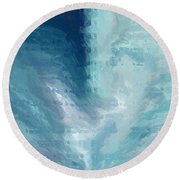 Glass Heart Round Beach Towel