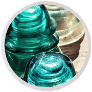 Glass Insulators Round Beach Towel