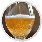 Glass Of Lager Round Beach Towel