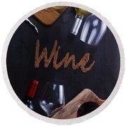 Winery Round Beach Towel