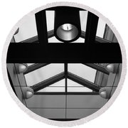 Glass Sky Lights Round Beach Towel