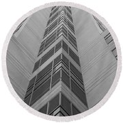 Glass Tower Round Beach Towel