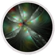 Glassworks Fractal Round Beach Towel