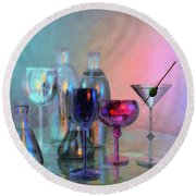 Glassy Still Life Round Beach Towel